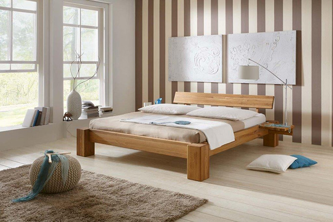 Easy Sleep flaches Bett aus Holz