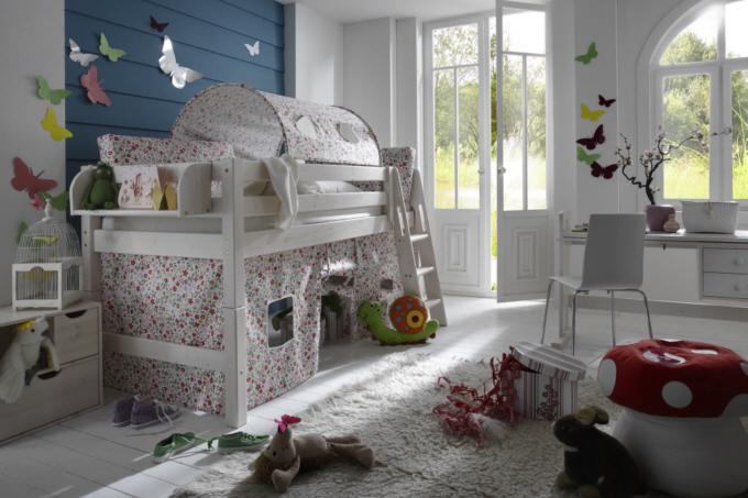 weisses hochbett latest rutschbett frieda x wei lackiert. Black Bedroom Furniture Sets. Home Design Ideas