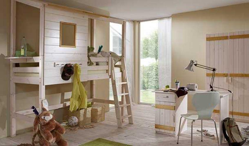 Infanskids Kindermöbel • Hochbett - Schreibtisch - Schrank